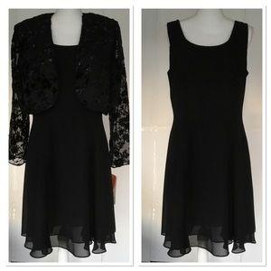 NWT ~ BLACK SLEEVELESS FORMAL DRESS W JACKET